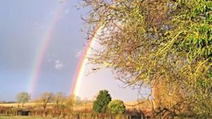 Double rainbow at Cuxham