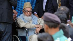 Ghulam Azam, the former head of Bangladesh's largest Islamic party, Jamaat-e-Islami