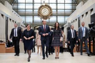 The royal couple visit the Musee d'Orsay