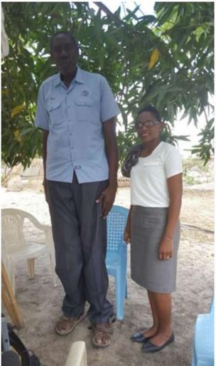 Baraka Elias with BBC Swahili's Lizzy Masinga