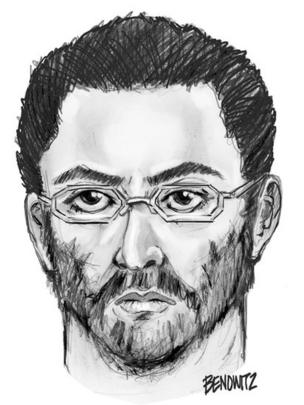 Police sketch of the suspect in the Queens shooting (14 August)