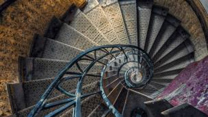 'Abandoned spiral staircase' from the web at 'http://ichef-1.bbci.co.uk/news/304/cpsprodpb/DA16/production/_86603855_abandoned-spiral-promo.jpg'