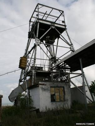 Копер золотовидобувної шахти