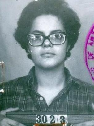 Foto de ficha policial de Dilma Rousseff durante a ditadura