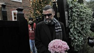 George Michael leaves his house in north London after recovering from a life-threatening bout of pneumonia that kept him in a Vienna hospital for a month. 23 Dec, 2011