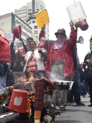Protesta en La Paz