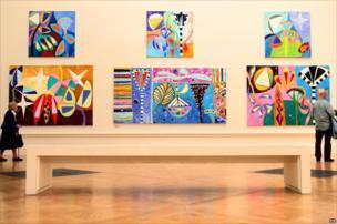 Various works by artist Gillian Ayres