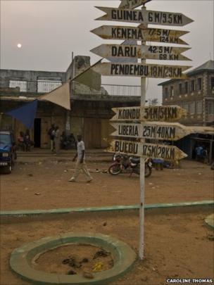 Signpost in Kailahun