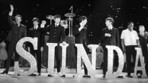 Bruce on stage with The Beatles at the London Palladium in 1963
