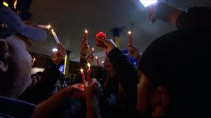Candle-lit vigil was held in Birmingham for three men killed in Birmingham