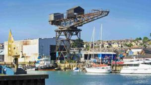 Hammerhead Crane, on the Isle of Wight
