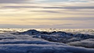 Clouds over An Sgor, Meall Garbh, Meall a' Bharr and Carn Mairg