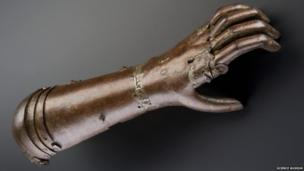 A knight's arm. Credit: Science Museum, Brought to Life exhibit