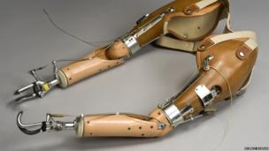 Gas-powered prosthesis. Credit: Science Museum, Brought to Life exhibit
