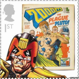 Judge Dredd stamp
