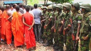 Sri Lanka Muslims decry radical Buddhist mosque attack   BBC News BBC com Sri Lanka mosque protest