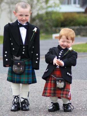 William and Archie in their kilts