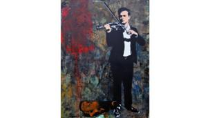 Street Violinist by Blek Le Rat