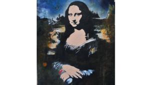 Spray can Mona Lisa by Blek Le Rat