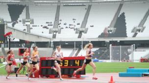 1500m girls final of the School Games