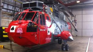 Royal Navy Search and Rescue helicopter will carry the flame to Land's End on Saturday