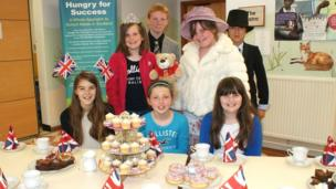 Pupils at Killermont Primary School dressed up to celebrate the Diamond Jubilee