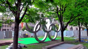 Olympic rings in Glasgow