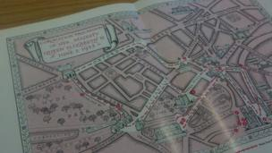 Map of coronation procession route