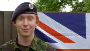 School Reporter and Sea Cadet Oliver, 15 who is taking part in the Diamond Jubilee River Pageant