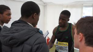 Dwain Chambers speaks to the School Reporters