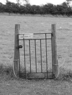 An old gate in a field