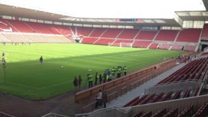 View of Riverside Stadium