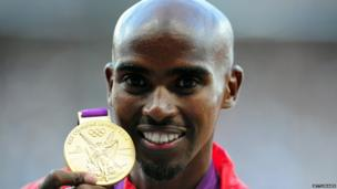 Long distance runner Mo Farah