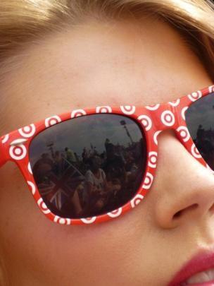 A woman's sunglasses
