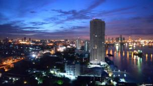 Dawn in Bangkok