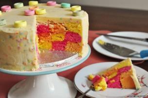 Colourful cake