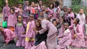 Schoolchildren in Ethiopia, East Africa