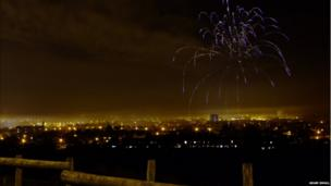 Fireworks over Macclesfield