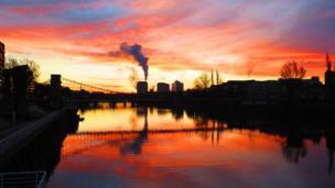 Sunrise over Glasgow