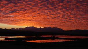 Sunrise over the Cuillins