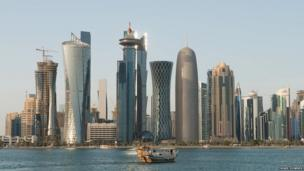 Qatar's spectacular West Bay is fast becoming an iconic image of the rapidly changing face of the oil-rich Gulf nations. Nigel Downes, a British photographer based in Qatar has taken a series of photographs reflecting the many qualities of the country.