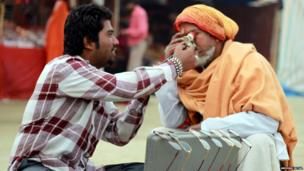 Two men at Kumbh Mela. Photo: Anurag Juyal