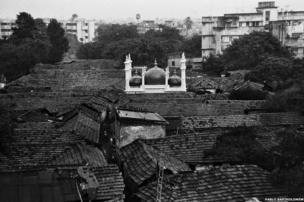 A mosque in a slum