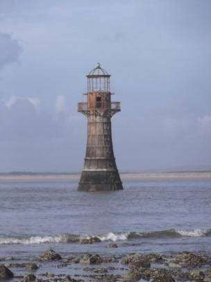 Steve Edwards sent in this photo of the Old Lighthouse at Whitford Burrows, Llanmadoc, Gower.