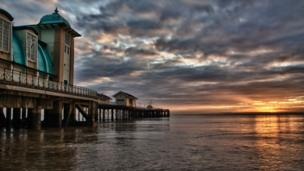 John Dowding took this photo of Penarth pier at sunrise when he said it was looking lovely