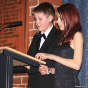 School Reporters Lewis and Zara