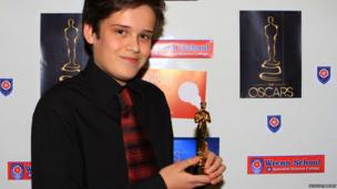 Callum, sports achievement award winner