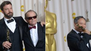 Ben Affleck, Jack Nicholson and Ang Lee