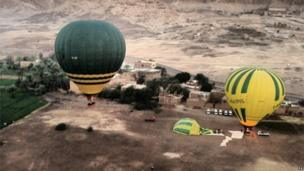 Balloons at launch site prior to the crash (26/02/13)