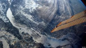 Picture of Lake Baikal in Russia taken from space